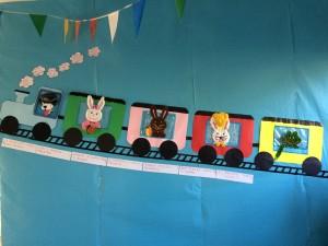 Il treno della Scuola dell'infanzia Volturno in partenza per un anno di buona salute: IGIENE, CIBO SANO E MOVIMENTO